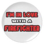 Estoy en amor con un bombero plato de comida