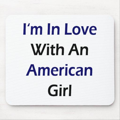 Estoy en amor con un chica americano tapete de ratones