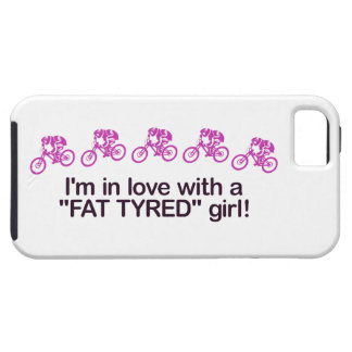 Estoy en amor con un chica puesto un neumático funda para iPhone SE/5/5s