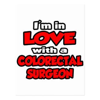 Estoy en amor con un cirujano colorrectal tarjeta postal