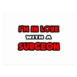 Estoy en amor con un cirujano tarjeta postal