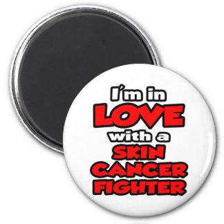 Estoy en amor con un combatiente del cáncer de pie imanes de nevera