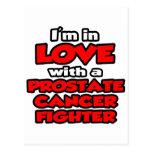 Estoy en amor con un combatiente del cáncer de pró tarjetas postales