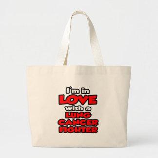 Estoy en amor con un combatiente del cáncer de pul bolsas lienzo