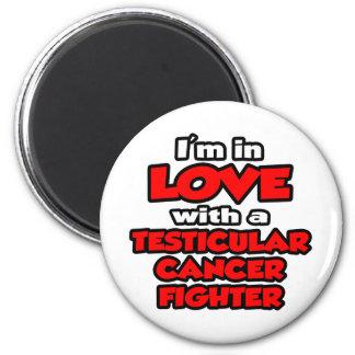 Estoy en amor con un combatiente del cáncer testic iman para frigorífico