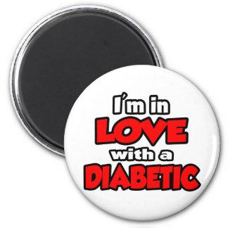Estoy en amor con un diabético imán redondo 5 cm