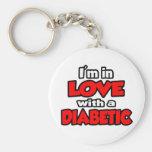 Estoy en amor con un diabético llavero personalizado