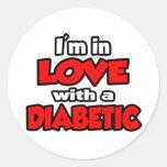 Estoy en amor con un diabético pegatina