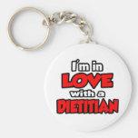 Estoy en amor con un dietético llaveros