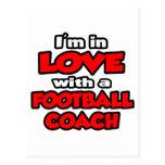 Estoy en amor con un entrenador de fútbol tarjetas postales