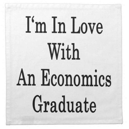 Estoy en amor con un graduado de la economía servilletas de papel