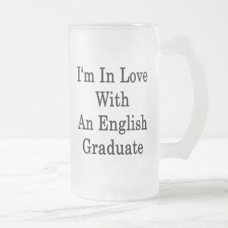 Estoy en amor con un graduado inglés taza de café
