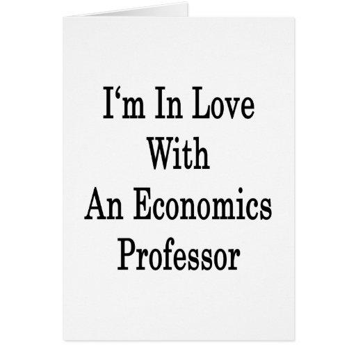 Estoy en amor con un profesor de economía tarjeta pequeña