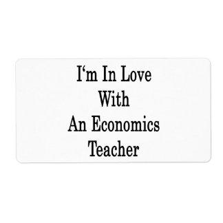 Estoy en amor con un profesor de la economía etiquetas de envío