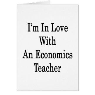 Estoy en amor con un profesor de la economía tarjeta pequeña