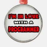Estoy en amor con un programador adornos de navidad