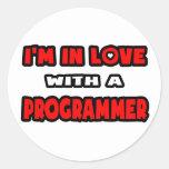 Estoy en amor con un programador pegatinas