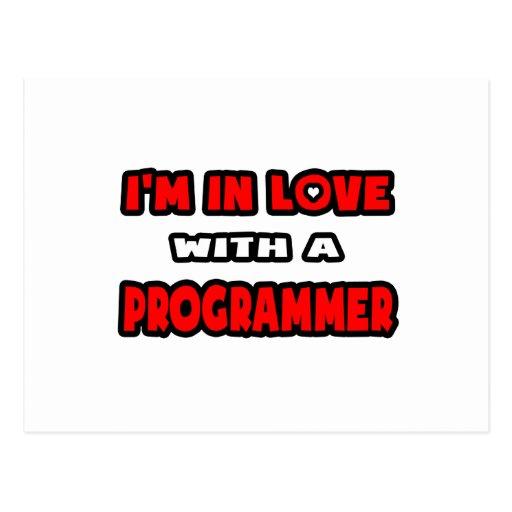 Estoy en amor con un programador tarjeta postal