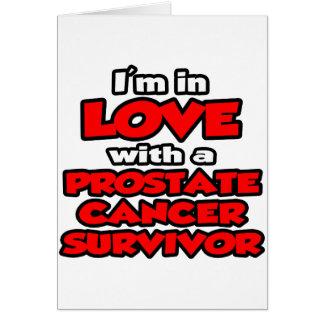 Estoy en amor con un superviviente del cáncer de p tarjeta de felicitación