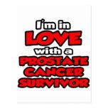 Estoy en amor con un superviviente del cáncer de p tarjetas postales