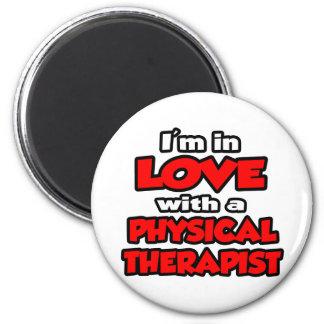 Estoy en amor con un terapeuta físico imanes de nevera