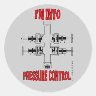 Estoy en el control de presión, pegatina de