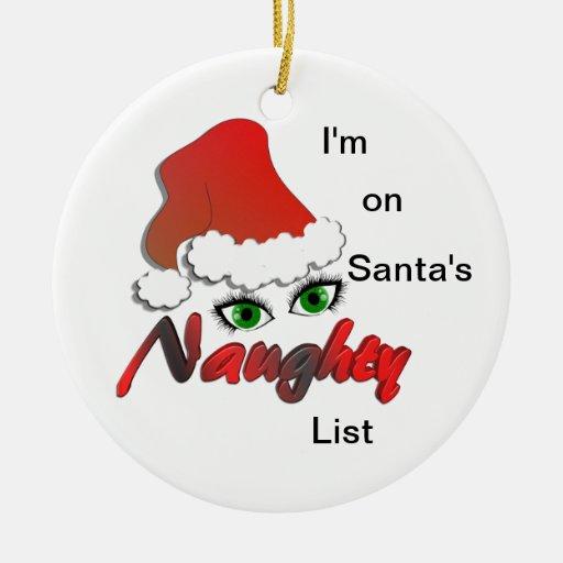 Estoy en el ornamento travieso de la lista de adorno de navidad