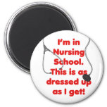 Estoy en la escuela de enfermería - vestida para a iman de nevera