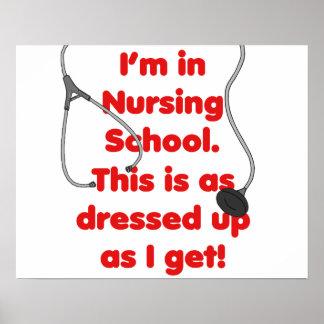 Estoy en la escuela de enfermería - vestida para a póster