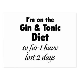 Estoy en la ginebra y la dieta tónica postales