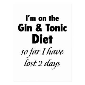Estoy en la ginebra y la dieta tónica tarjeta postal