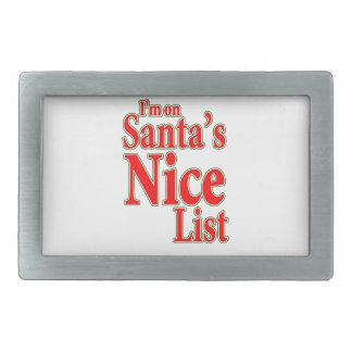 Estoy en la lista de Santa Niza Hebillas De Cinturón Rectangulares