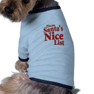 Estoy en la lista de Santa Niza Ropa De Perros