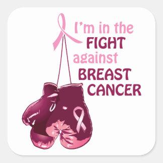 Estoy en la lucha contra cáncer de pecho pegatina cuadrada