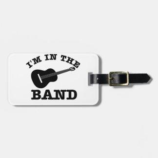 Estoy en los diseños de la guitarra de la banda etiquetas bolsa