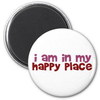 Estoy en mi lugar feliz imán