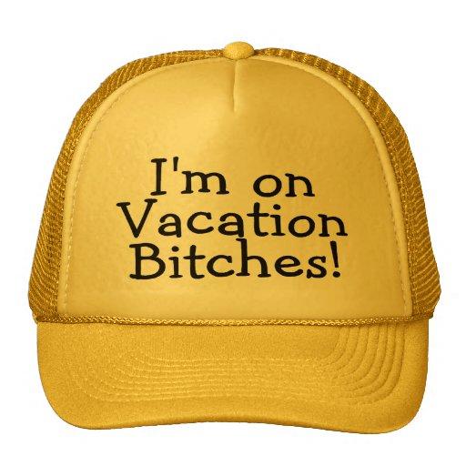Estoy en perras de las vacaciones gorras de camionero