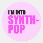 Estoy en Synthpop Pegatinas Redondas