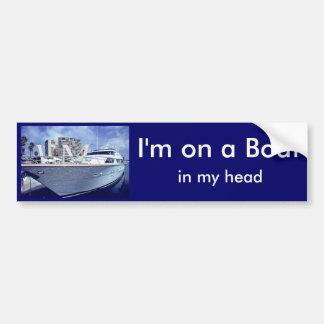 Estoy en un barco, en mi cabeza pegatina de parachoque