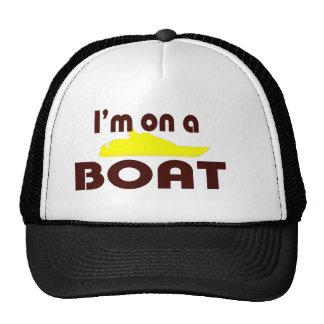 Estoy en un barco gorros bordados