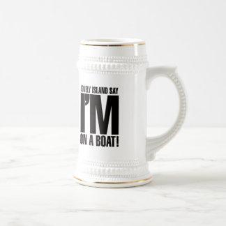 Estoy en un barco jarra de cerveza