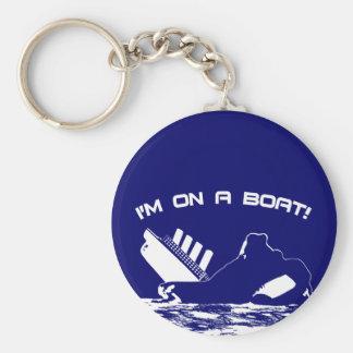 Estoy en un barco llavero personalizado