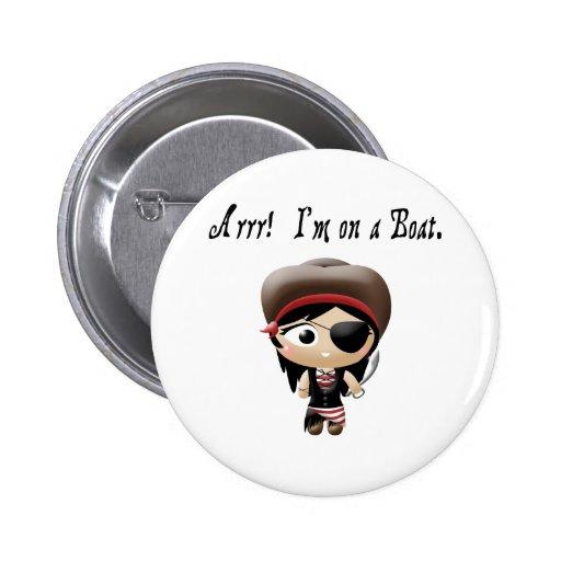 Estoy en un chica del pirata del barco pins