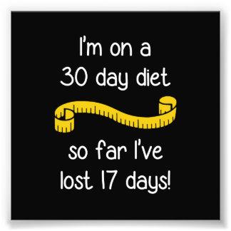Estoy en una dieta de 30 días fotografías