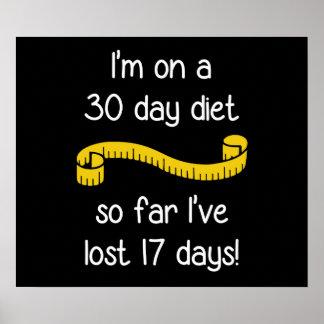 Estoy en una dieta de 30 días posters