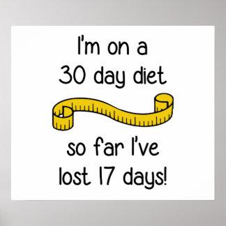 Estoy en una dieta de 30 días póster