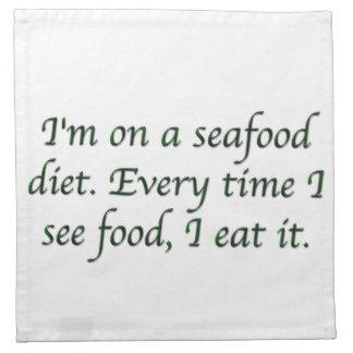 Estoy en una dieta de los mariscos servilletas