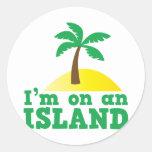 Estoy en una isla etiquetas