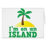 Estoy en una isla tarjeta