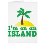 Estoy en una isla tarjetas